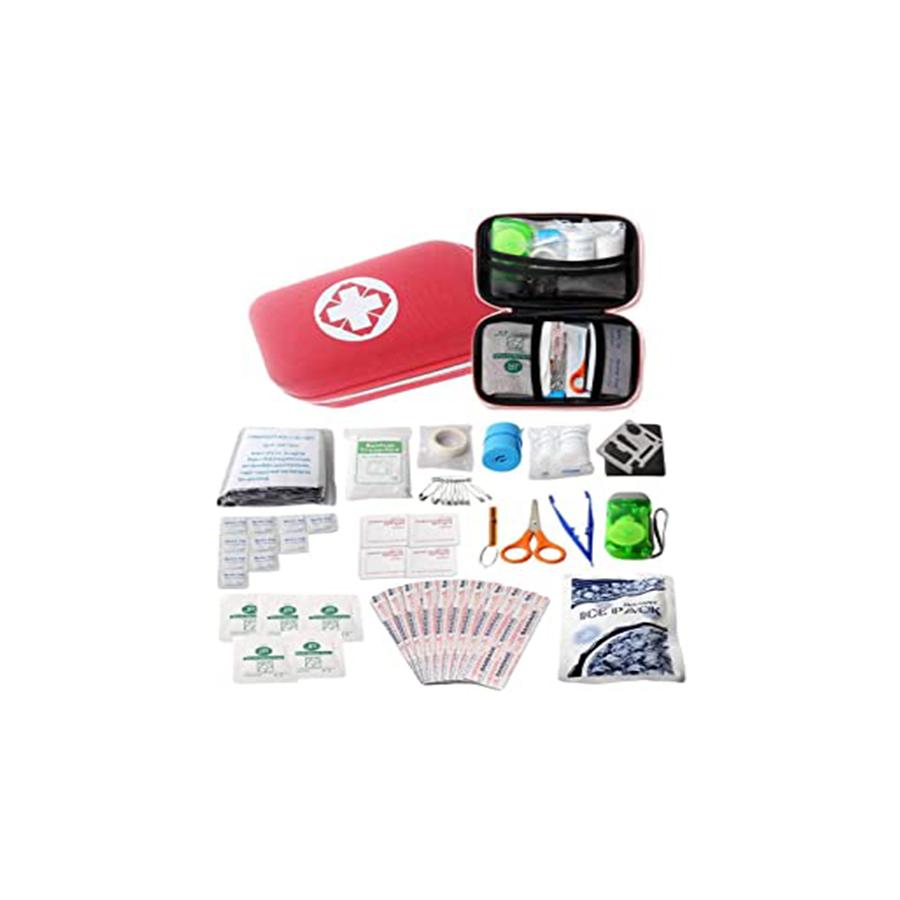 救急セット 応急処置 18種類44点セット 救急バッグ 多機能 応急処置セット 非常時用 携帯用救急箱 2点セット